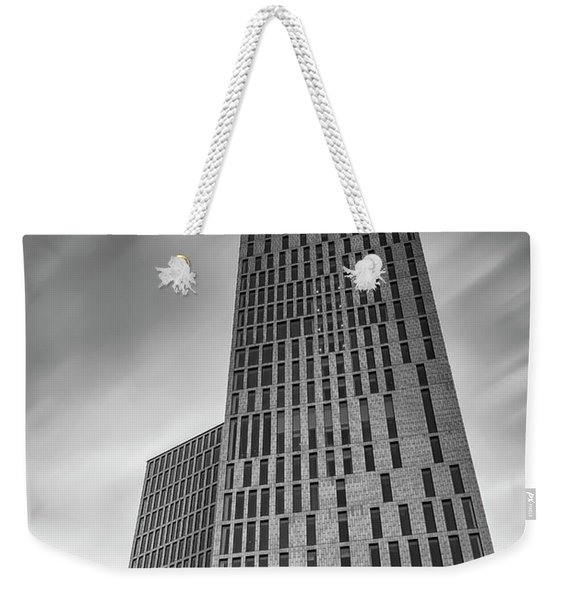 Malmo Live Building Blocks Black And White Weekender Tote Bag