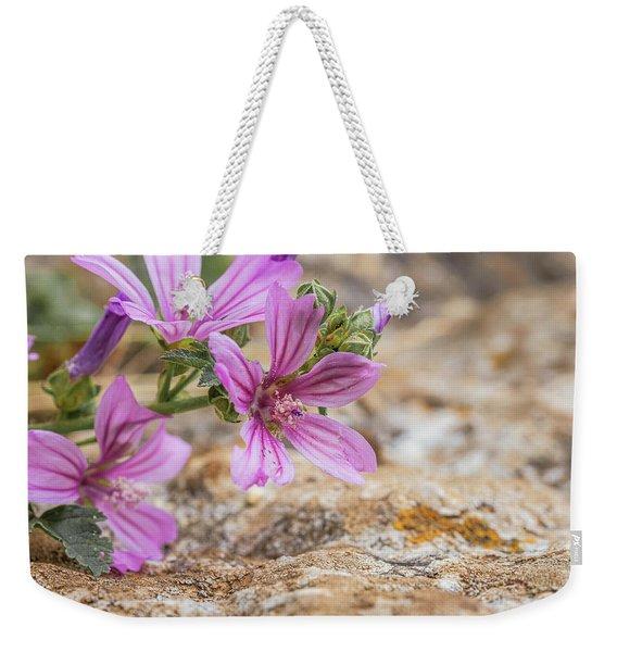 Malva Sylvestris - Spontaneous Flower Of The Tuscan Mountains Weekender Tote Bag