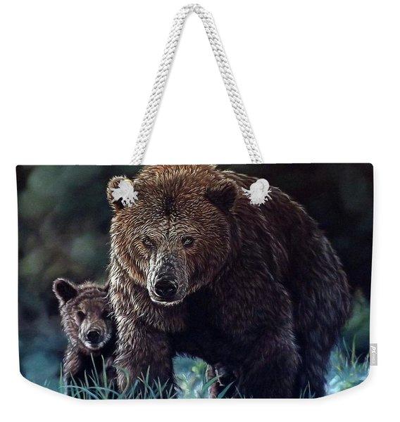 Mama Brown With Cubs Weekender Tote Bag