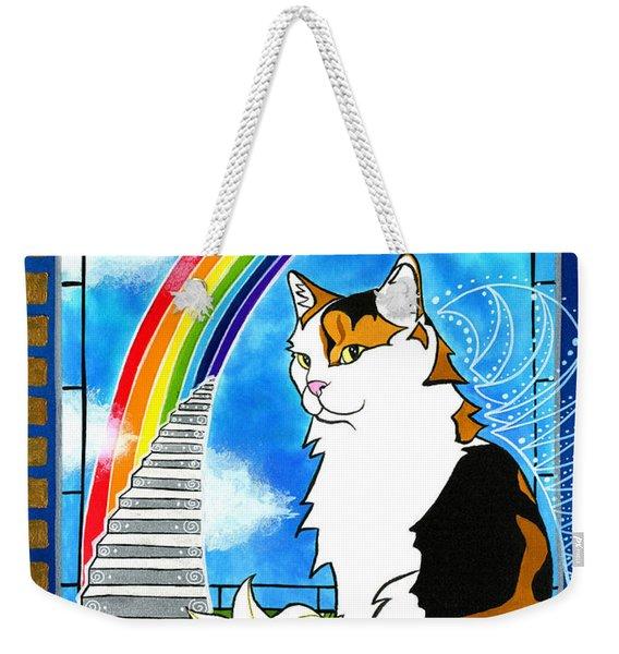 Mama Turtle - Cat Painting Weekender Tote Bag