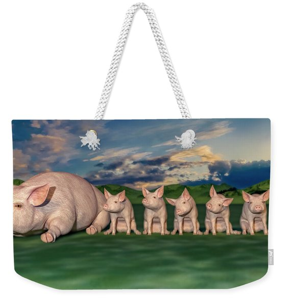 Mamma And Her Little Clones Weekender Tote Bag
