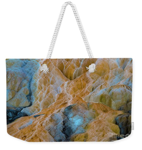 Weekender Tote Bag featuring the photograph Mammoth Hot Springs by Mae Wertz