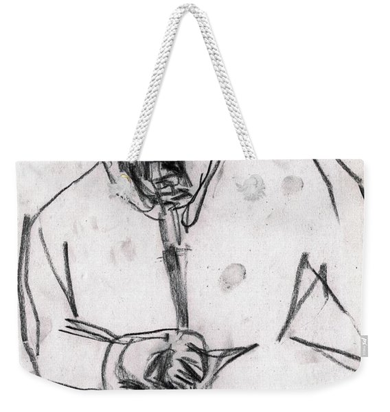 Man In Top Hat And Cane Weekender Tote Bag