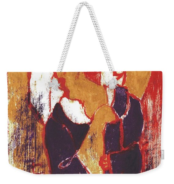 Man Sat On A Village Wall 2 Weekender Tote Bag