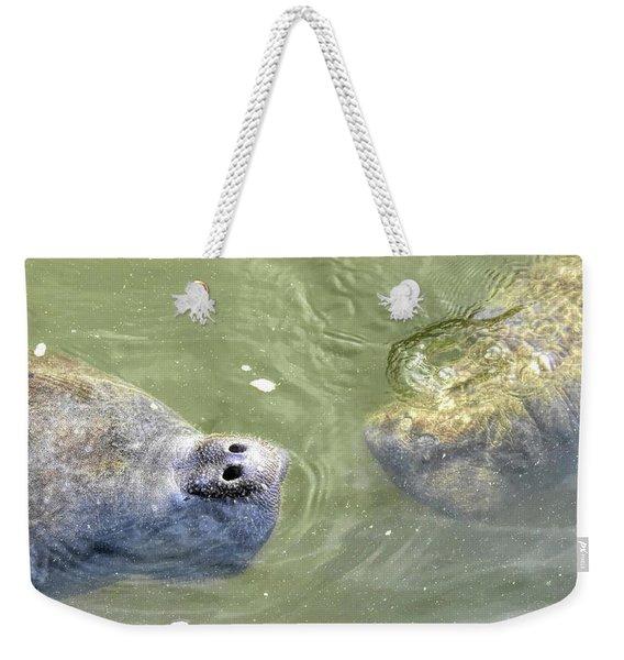Manatee Love Weekender Tote Bag