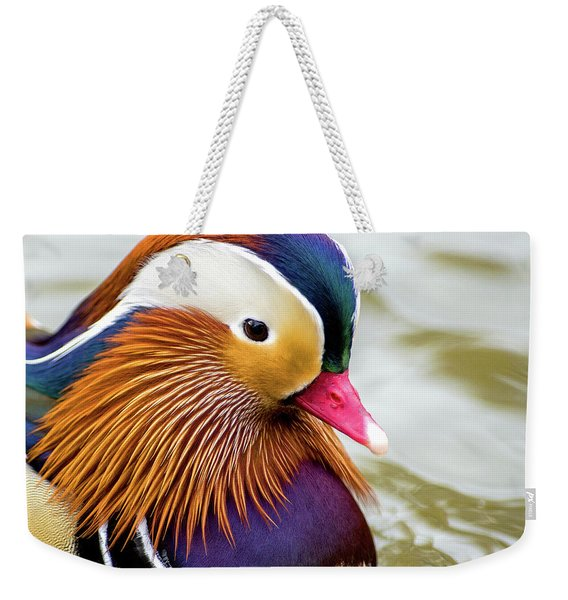 Mandarin Duck Portrait Weekender Tote Bag