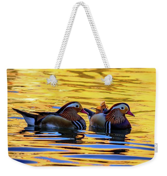 Mandarin Ducks Weekender Tote Bag