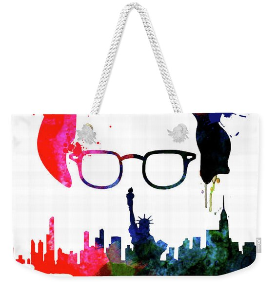 Manhattan Watercolor Weekender Tote Bag