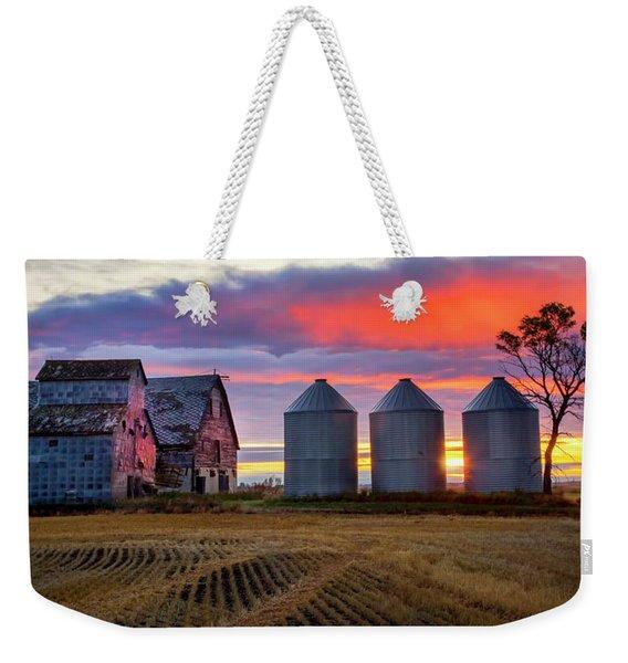 Manitoba Rural Scene Weekender Tote Bag