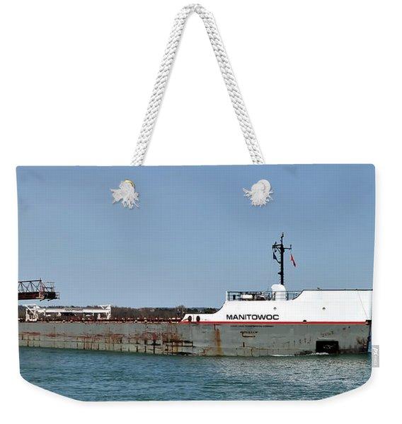 Manitowoc Freighter Weekender Tote Bag