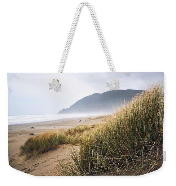 Weekender Tote Bag featuring the photograph Manzanita Beach by Whitney Goodey