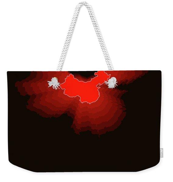 Map Of China Weekender Tote Bag