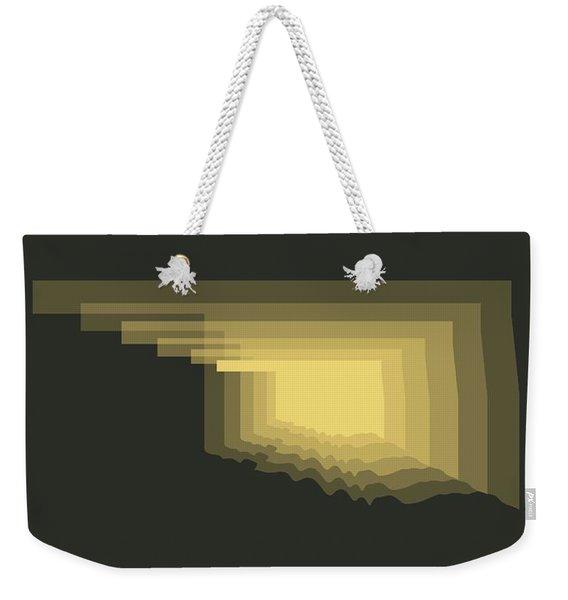 Map Of Oklahoma Weekender Tote Bag