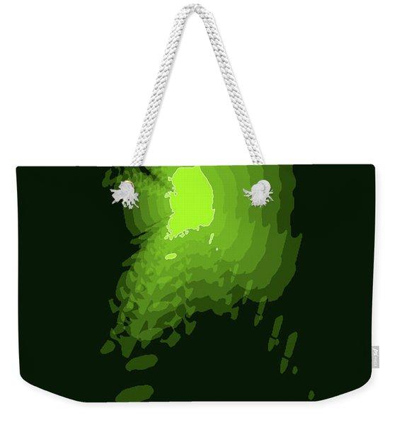 Map Of South Korea 3 Weekender Tote Bag