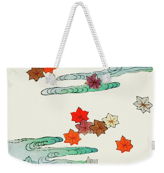 Maple Leaf - Japanese Traditional Pattern Design Weekender Tote Bag