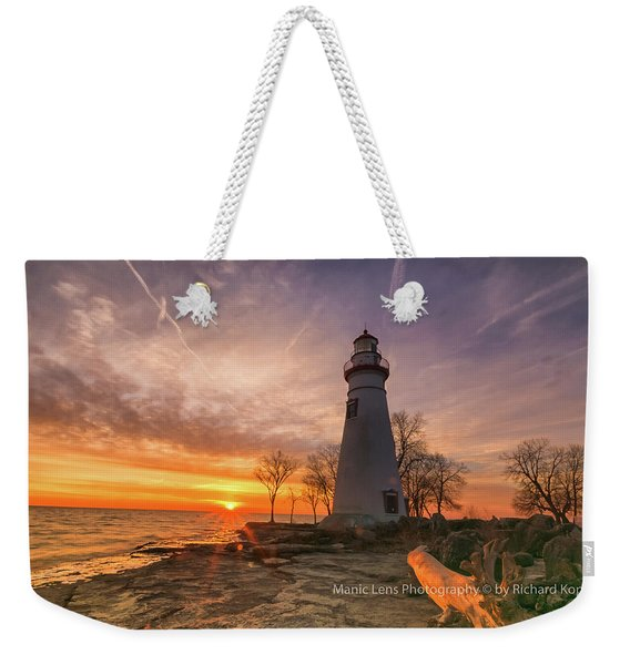 Marblehead Lighthouse Sunrise  Weekender Tote Bag