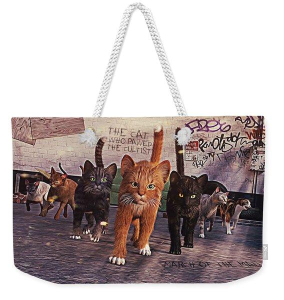 March Of The Mau Weekender Tote Bag