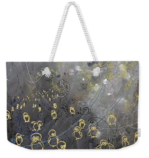 March Of The Penguins Weekender Tote Bag