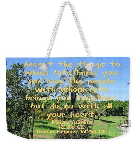 Marcus Aurelius About Fate Weekender Tote Bag