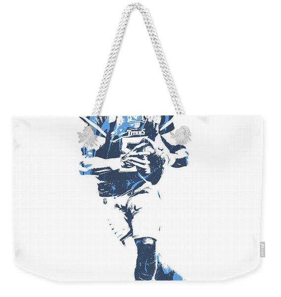 Marcus Mariota Tennessee Titans Pixel Art 25 Weekender Tote Bag
