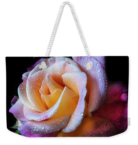 Mardi Gras Rose Portrait Weekender Tote Bag