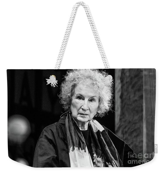 Margaret Atwood At The Hay Festival 2018 Weekender Tote Bag
