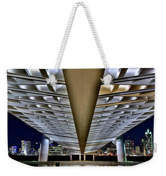 Margaret Hunt Hill And City From Underneath Weekender Tote Bag