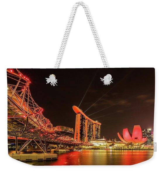 Marina Bay Sands Weekender Tote Bag