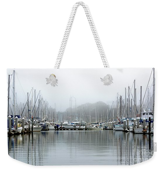 Marina Fog Makes Its Exit Weekender Tote Bag