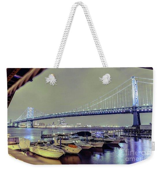 Marina Lights Weekender Tote Bag