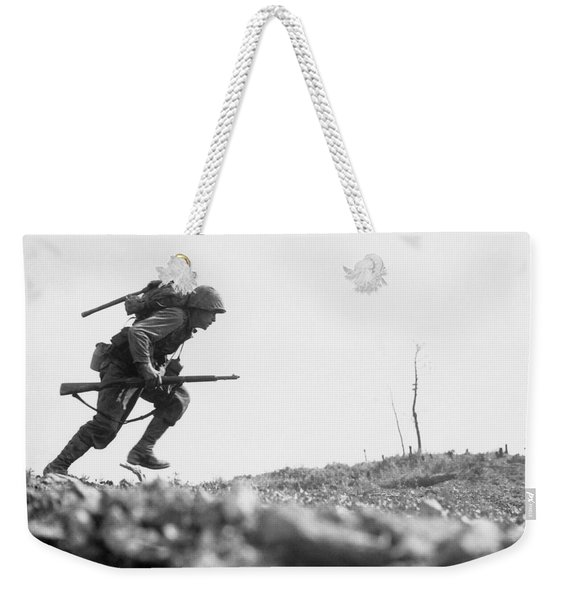 Marine Dash On Okinawa Weekender Tote Bag