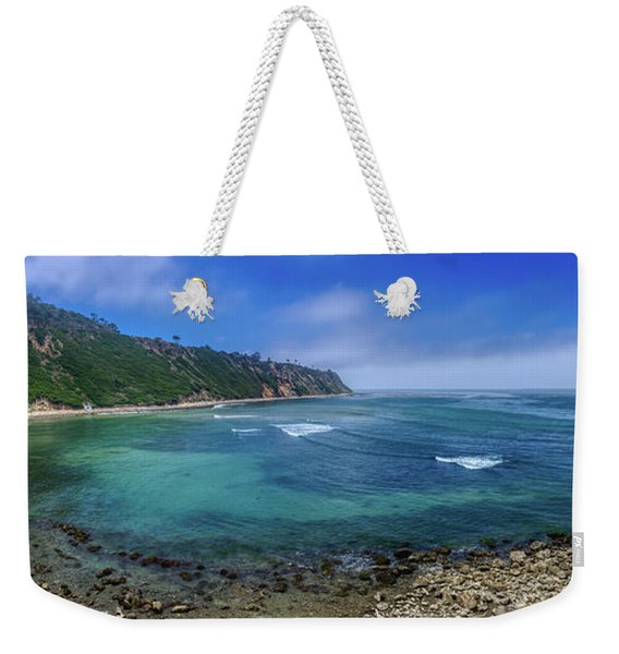 Marine Layer Over Bluff Cove Panorama Weekender Tote Bag