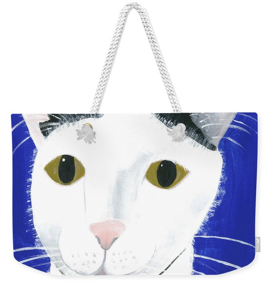 Weekender Tote Bag featuring the painting Marley by Suzy Mandel-Canter