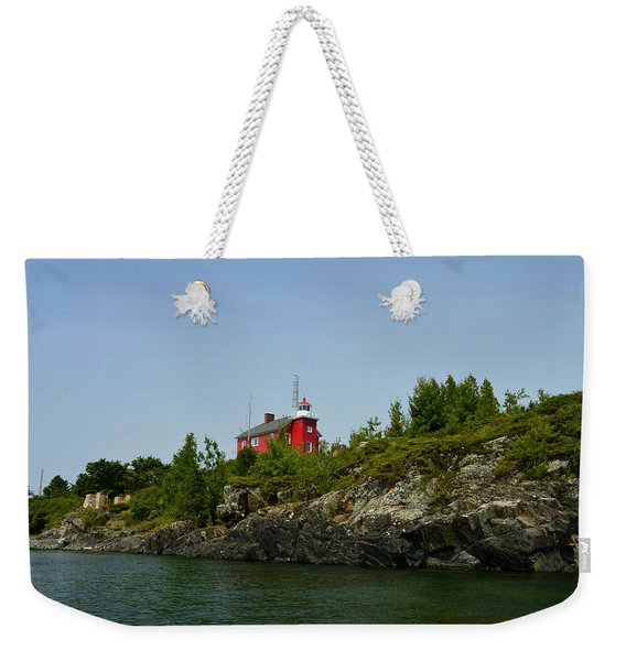Marquette Michigan Lighthouse Weekender Tote Bag