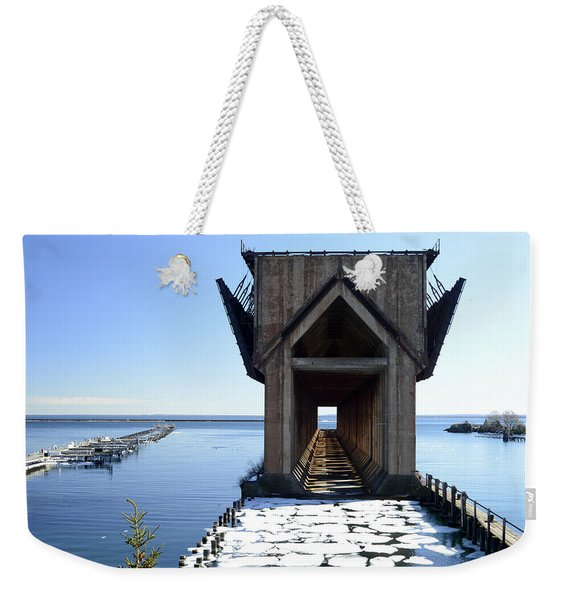 Marquette Ore Dock Cathedral Weekender Tote Bag