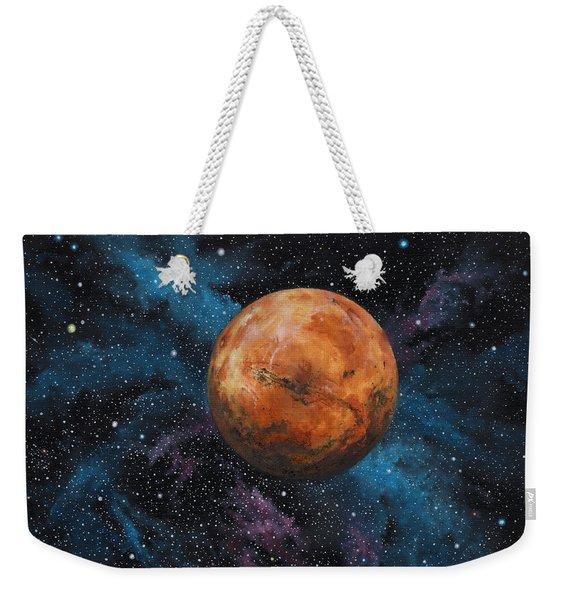 Mars And Stars Weekender Tote Bag