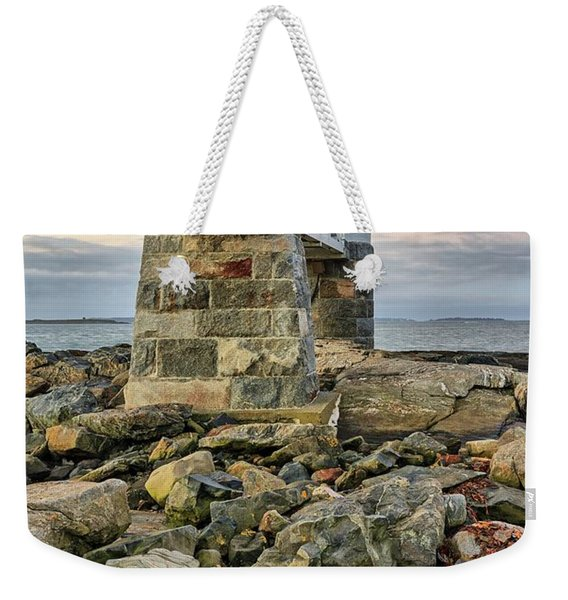 Marshall Point Light From The Rocks Weekender Tote Bag