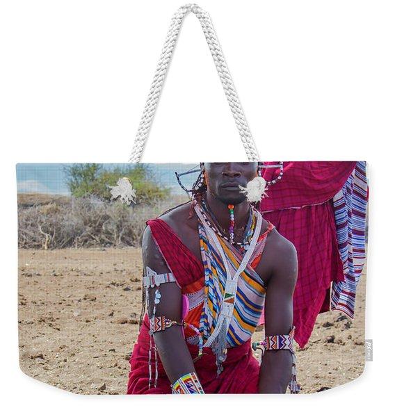 Maasai Warrior Weekender Tote Bag