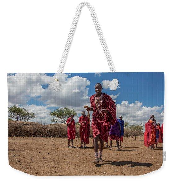 Maasai Welcome Weekender Tote Bag