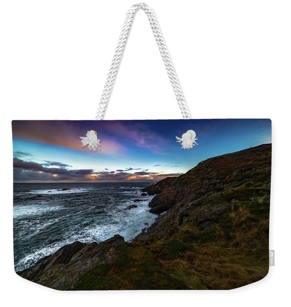 massive storm near Nyksund Weekender Tote Bag