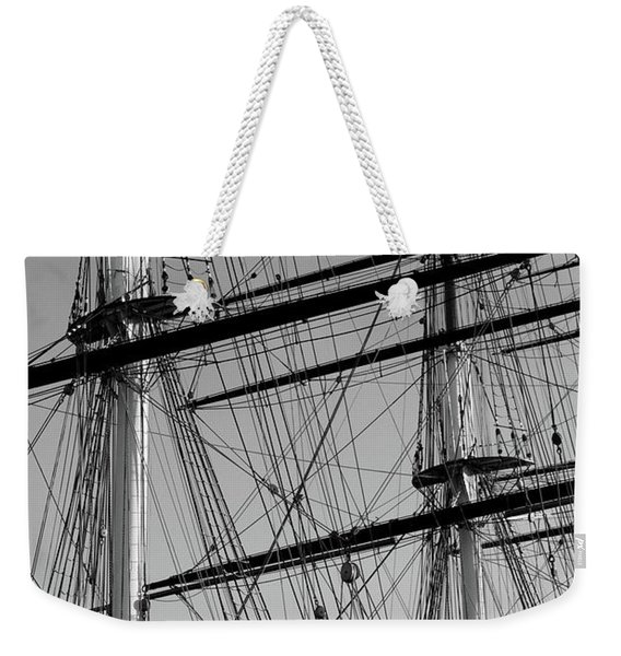 Masts And Rigging Of The Cutty Sark Weekender Tote Bag