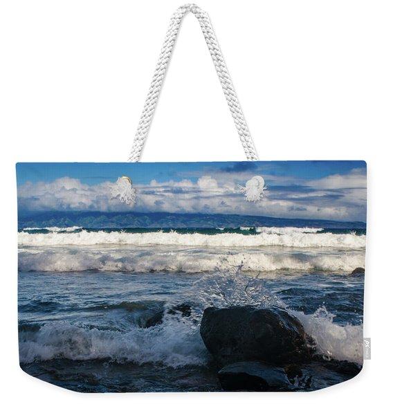 Maui Breakers Pano Weekender Tote Bag