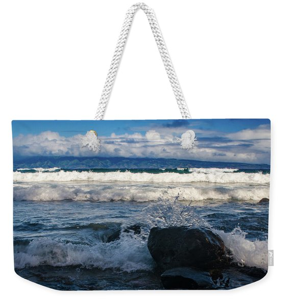 Maui Breakers Pano Weekender Tote Bag