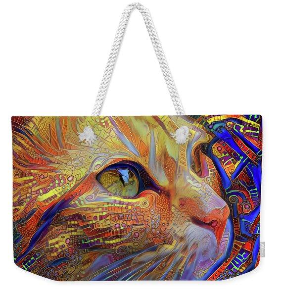 Max The Ginger Cat Weekender Tote Bag