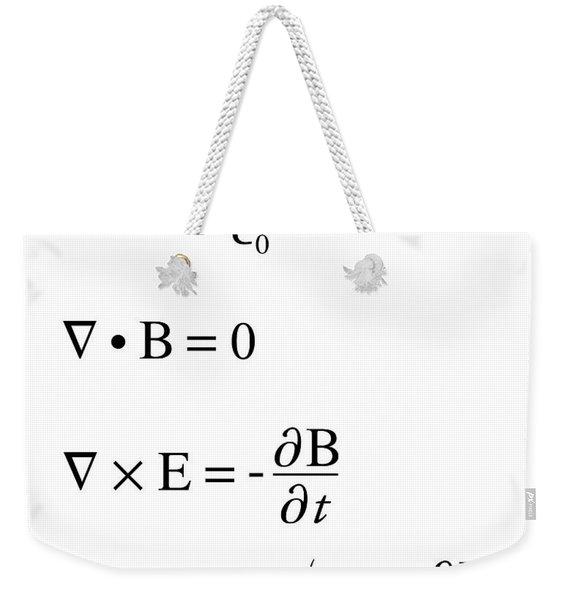 Maxwell's Equations Weekender Tote Bag