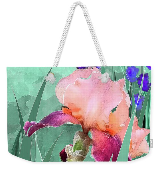 Weekender Tote Bag featuring the digital art May Garden by Gina Harrison