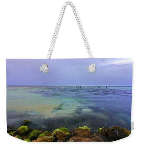 Mayan Sea Rocks Weekender Tote Bag
