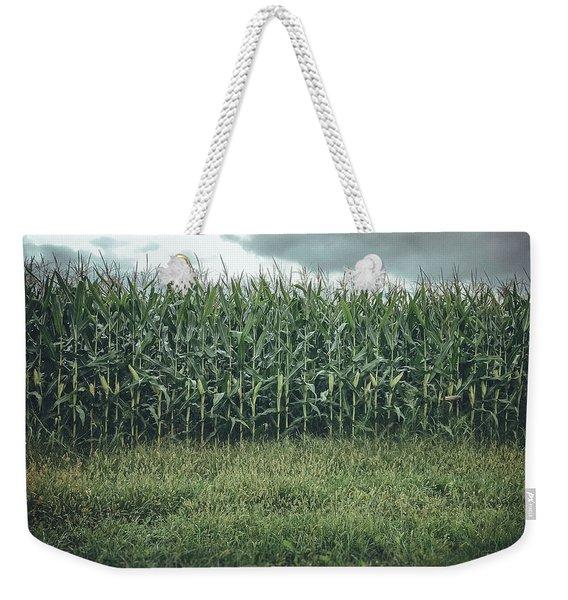 Maze Field Weekender Tote Bag