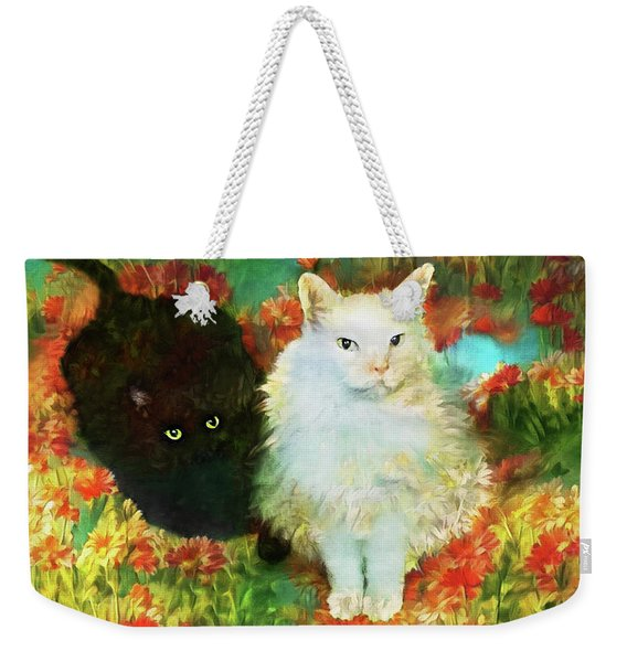 Mccartney And Silky In The Garden Weekender Tote Bag
