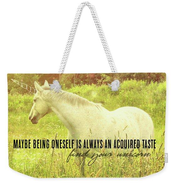 Meadow Gray Quote Weekender Tote Bag